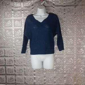 Express Women's Blue Loose Fit Pullover Sweater